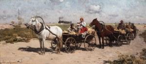 Alfred Wierusz-Kowalski (1849 Suwałki - 1915 Monachium), W drodze na jarmark