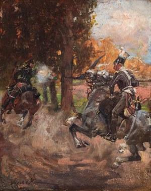 Wojciech Kossak (1856 Paryż - 1942 Kraków), Scena batalistyczna