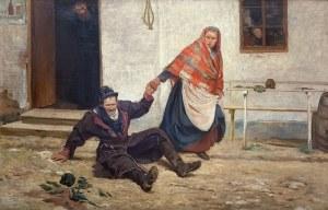 Wincenty Wodzinowski (1866 Igołomnia k. Miechowa - 1940 Kraków), Baba ciągnąca pijanego męża