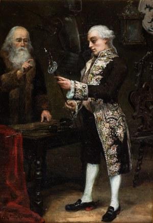 Zygmunt Sokołowski (1857 lub 1859 Niemierczyce (?) – 1888), Arystokrata oglądający białą broń