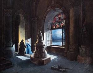 Teodor Jachimowicz (1800 Bełzec - 1889 Wiedeń), We wnętrzu, 1848 r.