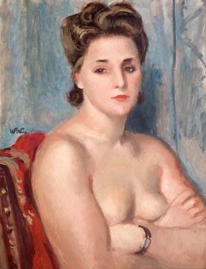 Wojciech Weiss (1875 Leorda na Bukowinie - 1950 Kraków), Kobiecy akt z zegarkiem