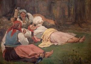 Wincenty Wodzinowski (1866 Igołomnia k. Miechowa - 1940 Kraków), Odpoczynek żniwiarek