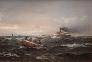 Anders Andersen-Lundby (1840 Lundby - 1923 Monachium), Przeprawa z parowca