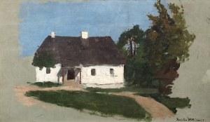 Stanisław Witkiewicz (1851 Poszawsze – 1915 Lovran), Studium pejzażowe z chatą i drzewami, l. 70.–80.XIX w.