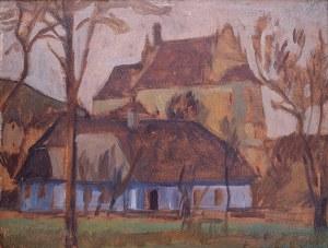 Stanisław Czajkowski (1878 Warszawa - 1954 Sandomierz), Fragment Kazimierza z widokiem na Farę, ok. 1929 r.