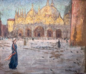 Leon Kowalski (1870 Kijów - 1937 Kraków), Wenecja – Piazza di San Marco, ok. 1910 r.