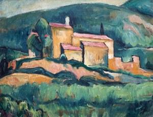 Jerzy Ascher (1884 Warszawa - 1943 deportowany), Widok z Ceret, ok. 1925–27