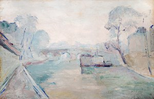 Włodzimierz Terlikowski (1873 wieś pod Warszawą - 1951 Paryż), Sekwana w Paryżu, 1924 r.