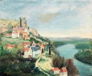 Henryk Hayden (1883 Warszawa - 1970 Paryż), Zamek Castelnaud nad Dordonią, l. 30. XX w.