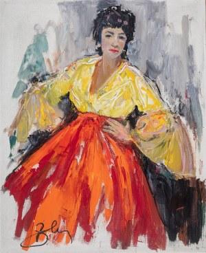 Antoni Suchanek (1901 Rzeszów - 1982 Gdynia), Portret hiszpański, 1972 r.