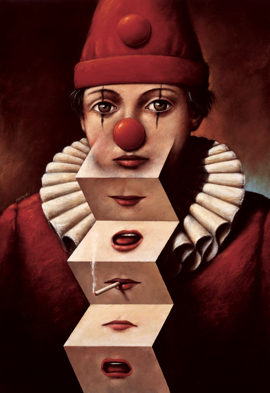 Rafał Olbiński (ur. 1943), Clown of many faces