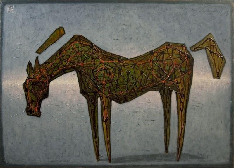 Grzegorz Klimek, Zielony koń, 2019