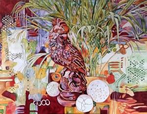 Joanna Szumska, Martwa natura z papugą, 2019