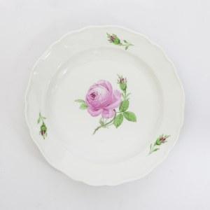 Dwa talerzyki z motywem róży