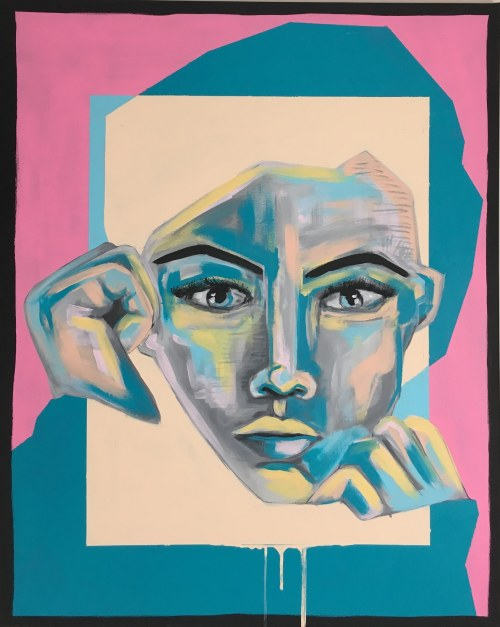 Sławomir Danielski, Ukryta, z cyklu Street-pop, 2019r.