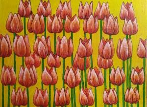 Małgorzata Frącek, Pomarańczowe tulipany, 2019r.