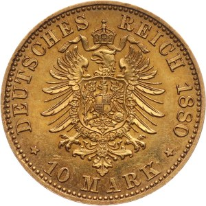 Niemcy, Meklemburgia-Strelitz, Fryderyk Wilhelm, 10 marek 1880 A, Berlin