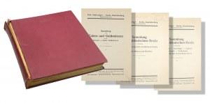 Felix Schlessinger, katalogi aukcyjne, trzy katalogi w zbiorczej oprawie, 1929-1930