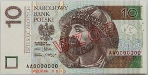 III RP, 10 złotych 5.01.2012, Seria AA 0000000