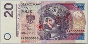 III RP, 20 złotych 5.01.2012, Seria AA 0000000