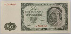 PRL, 50 złotych 1.07.1948, seria A