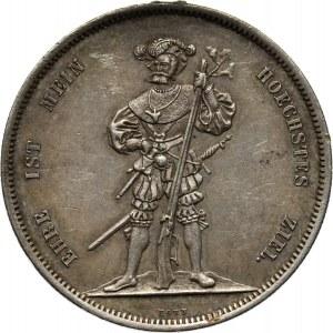 Szwajcaria, 5 franków (talar strzelecki) 1857, Berno