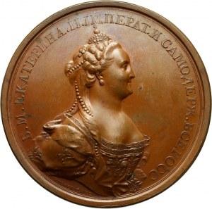 Russia, Catherine II, bronze Coronation medal 1762