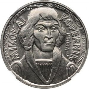 PRL, 10 złotych 1973, Kopernik, PRÓBA, nikiel