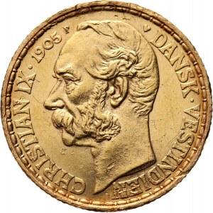 Dania, Duńskie Indie Zachodnie, Krystian IX, 20 franków / 4 daler 1904, Kopenhaga