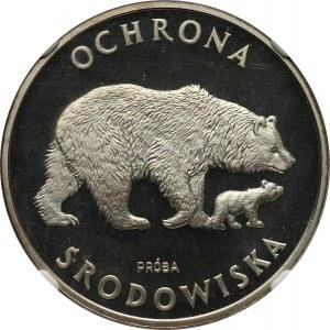 PRL, 100 złotych 1983, Niedźwiedzie, PRÓBA