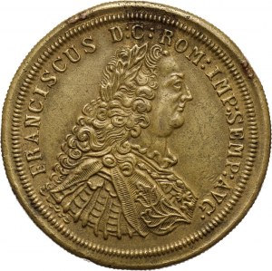 Austria, Franz I Stephan 1745-1765, bronze medal with coat of arms of Peru on revese