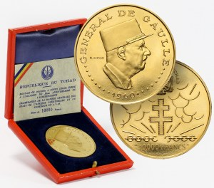 Czad, 10000 franków 1960, Generał de Gaulle