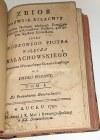 NAŁĘCZ-MAŁACHOWSKI- ZBIÓR NAZWISK SZLACHTY wyd. 1790r.