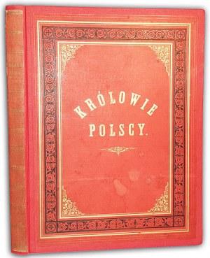 DUCHIŃSKA - KRÓLOWIE POLSCY 48 tablic z drzeworytami wyd. 1893 r.
