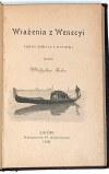 BEŁZA – WRAŻENIA Z WENECYI wyd. 1901