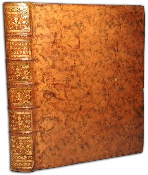 ARCHENHOLZ, MAUVILLON - HISTOIRE DE GUSTAVE-ADOLPHE, ROI DE SUEDE wyd.1764 plany, mapy POLONICA