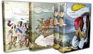 DUMAS - TRYLOGIA TRZEJ MUSZKIETEROWIE wyd. 1957-9 ilustracje Skarżyński