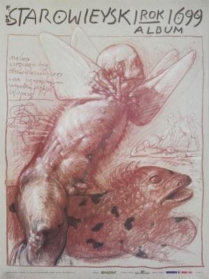 Franciszek STAROWIEYSKI (1930-2009) - projekt, Plakat promujący album Franciszka Starowieyskiego