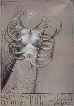 Franciszek STAROWIEYSKI (1930-2009) - projekt, Plakat do spektaklu