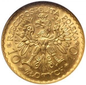 II Rzeczpospolita 10 złotych 1925 Chrobry NGC MS65