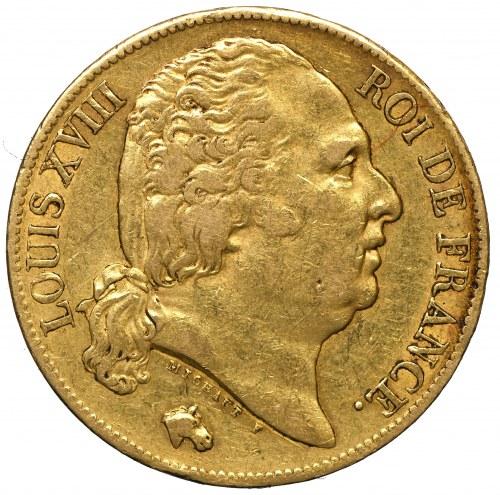 Francja, Ludwik XVIII, 20 franków 1819 A