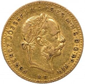 Austro-Węgry 10 franków 4 forinty 1883 KB, rzadkie