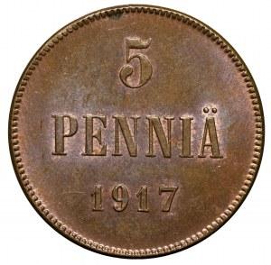 Finlandia, Mikołaj II, 5 pennia 1917