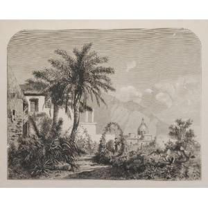 Aleksander ŚWIESZEWSKI (1839-1895), Palmy na wyspie Capri