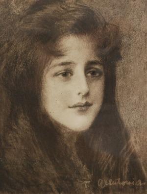 Teodor AXENTOWICZ (1859-1938), Portret Ady Zakrzewskiej, ok. 1902