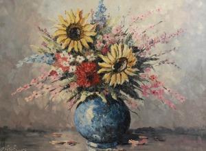 Anna KUBICKA, Kwiaty w wazonie