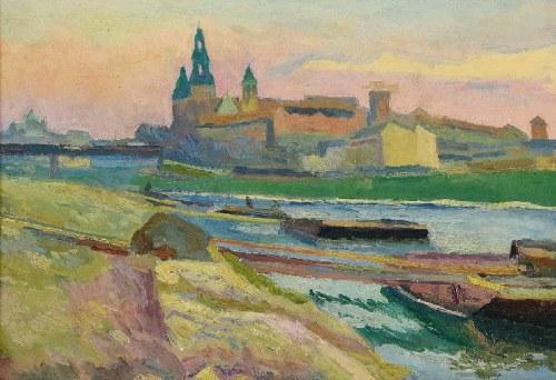 Stanisław KAMOCKI (1875-1944), Widok na Wawel, 1940