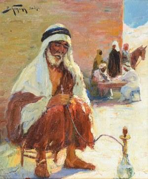 Abraham BEHRMANN (1876-1942), Jerycho [Palący sziszę]
