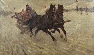 Zygmunt JÓZEFCZYK (1881-1966), Pędzące sanie, 1926